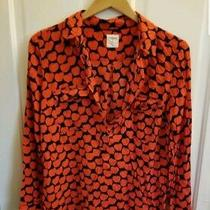 Gap Boyfriend Long Sleeve Womens Shirt S Apples Red Blue Button Up Nc Photo