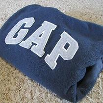 Gap Boys 4 5 Xs Hoodie Sweatshirt Navy Blue Logo Fleece Gray Thick Warm Jacket Photo