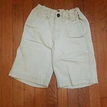 Gap Boys Flat Front 7 Khaki Shorts Boy Adjustable Waist School Uniform Bottoms Photo