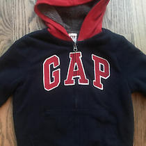 Gap Boys Fully Lined Cozy Hoodie Jacket Size S ( 6 - 7 ) Photo