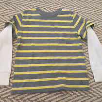 Gap Boys Gray and Yellow Stripe Shirt Size 5 Photo