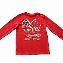 Gap Boys Long Sleeve Graphic Top Shirt Tee Size L (10) Red Photo