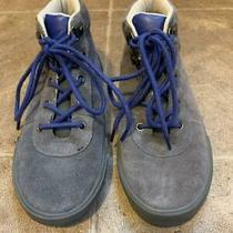 Gap - Boys Mountain Sneakers (Suede/grey/size 2) Pre-Owned Photo