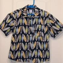 Gap Boys Ss Tropical Hawaiian Surfboard Shirt Sz. Xs 4 Photo