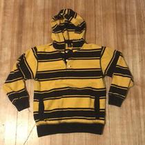 Gap Boys yellow& Blue Striped Sweatshirt Size 8 Med Photo
