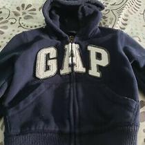Gap Brand Size 12-18 Month Zip Up Sweatshirt With Hood (Blue)  Photo