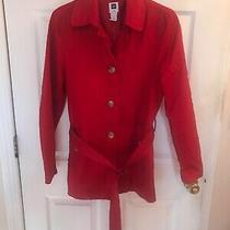 Gap Brand Size M Red Lined Button Front Jacket- Ex Cond Photo
