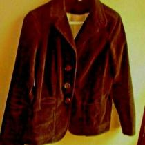 Gap  Brown  Blazer Jacket Size 8 With Pockets Three Button Front  Photo