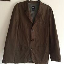 Gap Brown Lined Blazer Jacket Coat Cotton Men's Size M (42 44 r) Rib Textured Photo