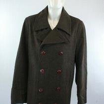 Gap Brown Wool Blend Double Breasted Men's Button Up Pea Coat Size M 40-42