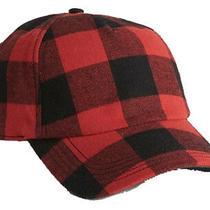 Gap Buffalo Check Red Black Plaid Camo Brim Baseball Hat Cap One Size 25 Nwt Photo