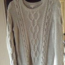 Gap Cable Sweater Light Gray Size M Photo