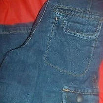 Gap Cargo Blue Denim Jeans Size 5 Photo