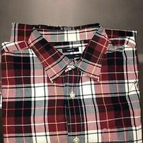Gap Casual Shirt Red/navy Size Large Long Sleeve Photo