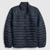 Gap Cold Control Light Weight Puffer Jacket New Classic Navy Blue Size L New Photo