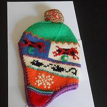 Gap--Cotton (6-12 Months) Knitted Hat With Pom Poms Photo