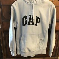 Gap Cotton Blue Hoodie Sweatshirt Spellout Arch Logo  Size Xs Photo