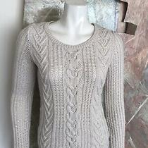 Gap Cream Ivory Cableknit Cable Knit Womens Wool Blend Sweater Size Small Photo