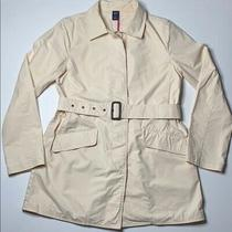 Gap Cream/off White Buttonup Belted Cotton Jacket M Photo