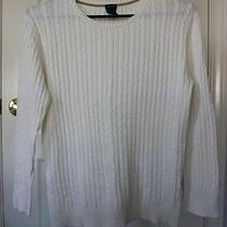 Gap Cream White Cable Knit Sweater Photo