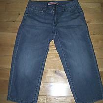 Gap Curvy Flare Stretch Denim Whiskered Capri Jeans  Size 6 Photo