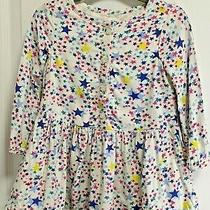 Gap Cute Baby Girl Cotton Dress Lined Stars 2t Photo