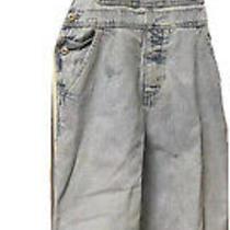 Gap Denim Blue Jean Bib Overalls Womens Size Xxl Photo