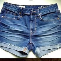 Gap Denim Blue Slim Cut-Off Jean Shorts 26