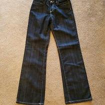 Gap Denim Girls Straight Leg Dark Blue Jeans Size 12/reg Photo