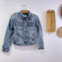 Gap Denim Jacket Light Wash Jeans Jacket Womens Size Xs Button Front Photo