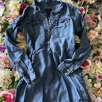 Gap Denim Jean Shirt Dress Women 1/2 Button Down  Size Xs Euc Photo