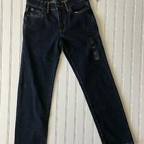 Gap Denim Kids Boys Size 10 Regular Jeans Stretch Straight New Dark Wash Blue Photo