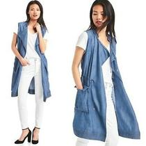 Gap Denim Midi Vest Duster. Sz Xs Photo