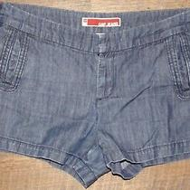 Gap Denim Shorts Navy Cotton Blend Trouser Style Womens Size 10 Photo