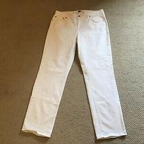 Gap Denim White Jeans 1969 Classic Size 12 Photo