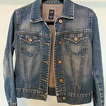 Gap Denim Womans Jacket Size S Button Up With Collar Photo