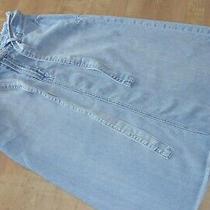 Gap Denim Womens Size 28 Frayed Light Blue Denim Skirt With Belt Photo