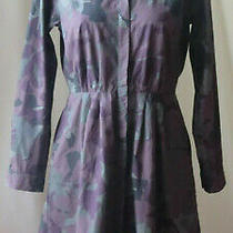 Gap Designed & Crafted Long Sleeve Button Down 100% Cotton Camouflage Dress 6 Photo