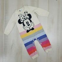 Gap Disney Minnie Mouse Sweater One Piece 12-18 Months Romper Jumpsuit Stripe Photo