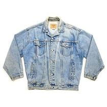 Gap Distressed Jean Jacket  Vintage High End Luxury Designer Blue Denim Vtg Photo