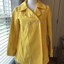 Gap Double Breasted Button Yellow Pea Coat Size Xs  Photo