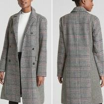 Gap Double Breasted Wool Blend Houndstooth Plaid Xs Coat Womens Photo