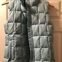 Gap Down Puffer Vest Nylon Full Zip Tiffany Blue Womens Small. Photo