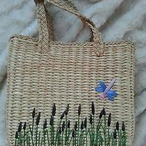Gap Dragonfly Reed Straw Tote Purse Large  Photo