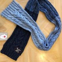 Gap Ed Kids Blue Ombre Cable Knit Winter Scarf