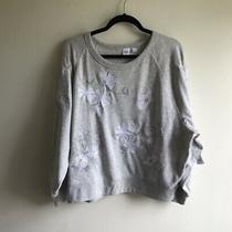 Gap Embroidered Floral Sweatshirt Brand New Xl Photo