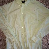 Gap End on End Poplin Green Medium Dress Shirt M Photo