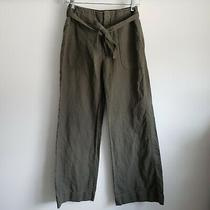 Gap Factory Linen Blend Pants Olive Green Women's Size 4 Photo