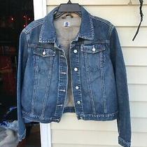 Gap Factory Store Women's 100% Cotton Blue Denim Jean Jacket Size L Photo
