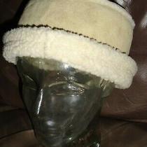 Gap Faux Suede Hat Bisque Beige Fleece Lined Women's S/m Warm Winter  Euc Photo